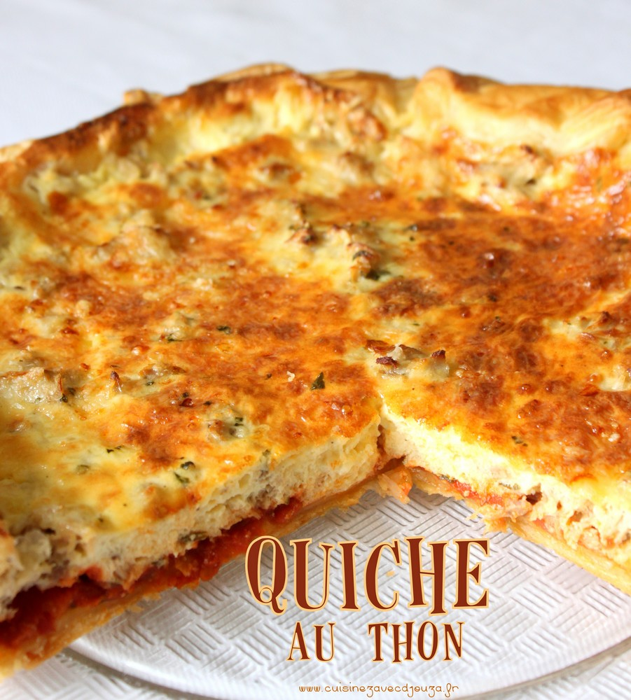 quiche au thon recettes faciles recettes rapides de djouza. Black Bedroom Furniture Sets. Home Design Ideas