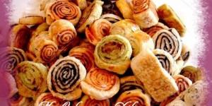 Amuse gueule apéritif à la pâte feuilletée
