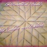 Baklawa aux amandes decoupe en rosace