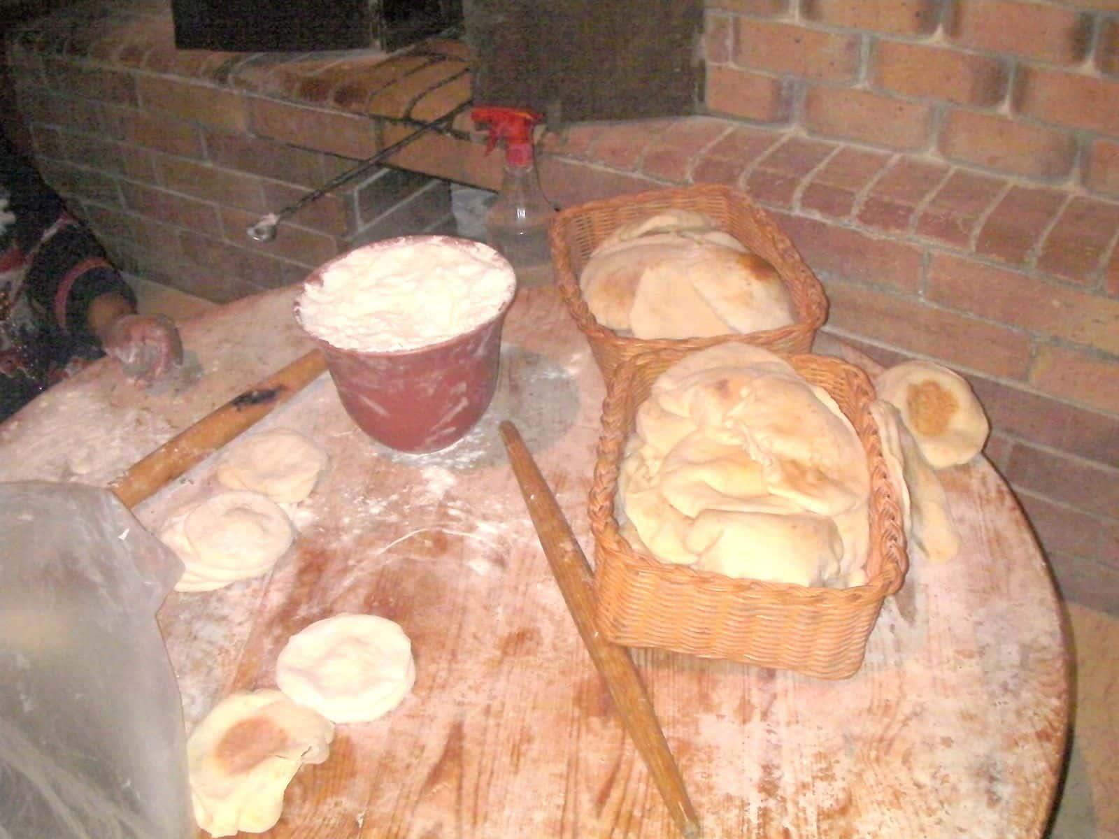 pain pita cuit traditionnel au four