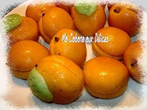Abricot en pâte d'amande massepain