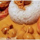 Gambas et St Jacques au curry et garam massala