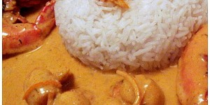 Gambas et St Jacques au curry et garam massala