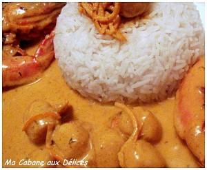 Poelee de gambas et st jacques au curry