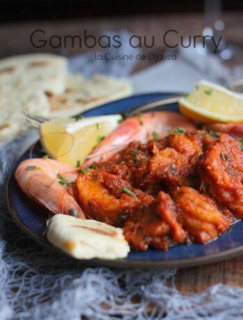 Gambas indienne au curry