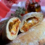 Calzione fromage et poivrons