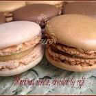 Macarons vanille chocolat café