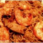 Nouilles chinoises aux crevettes & poulet