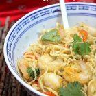 Wok de Nouilles chinoises aux crevettes