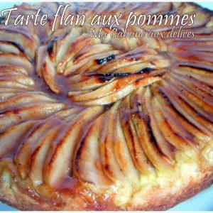 Tarte au Flan aux pommes