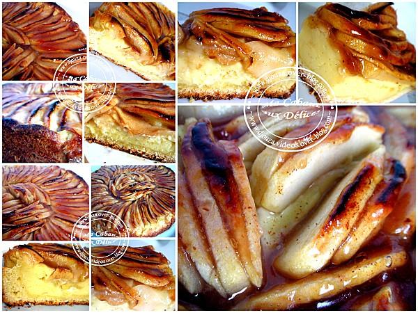 tarte flan pommes