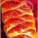 Khobz dar tressé à la farine
