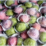 Boule de coco coloree
