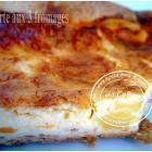 Tarte salée aux 3 fromages