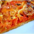 Tarte à la tomate, poivron et thon