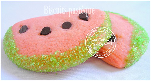 Biscuits pasteque 009