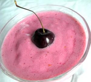 Smoothie fraise framboise allégé