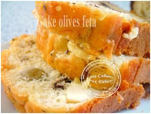 Cake olives feta basilic