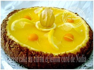 Cheesecake au citron lemon curd
