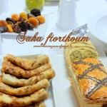 Table de ramadan avec menu