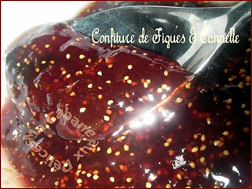 confiture de figues cannelle
