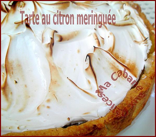 Tarte au citron meringuée facile et rapide a la meringue italienne