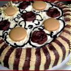 Montage gâteau d'anniversaire chocolat café {partie 2}