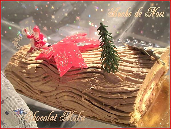 Buche de noel au moka chocolat