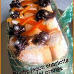 Buche de noel chocolat orange facon charlotte sans cuisson