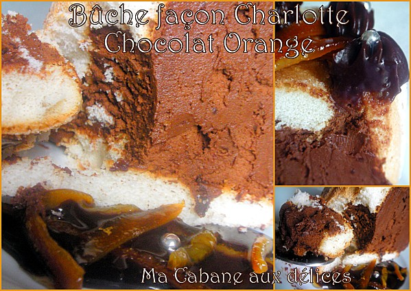 Buche façon charlotte chocolat orange photo 2