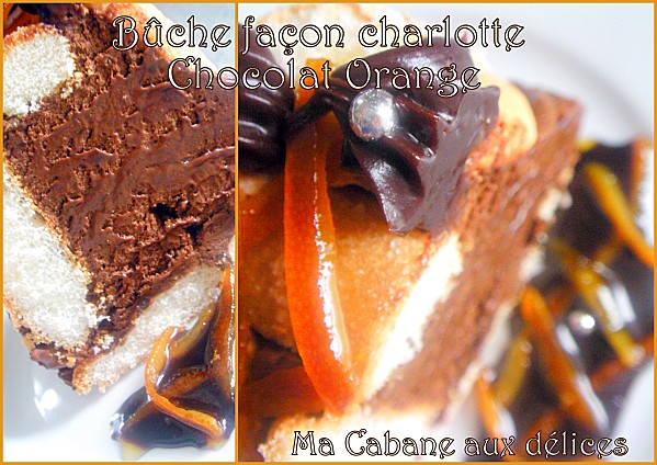 Buche façon charlotte chocolat orange photo 3