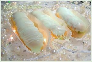 Eclairs creme chiboust pistache