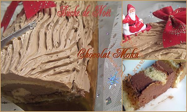 buche de noel chocolat moka montage 1