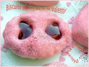 Biscuits glaces de la st valentin