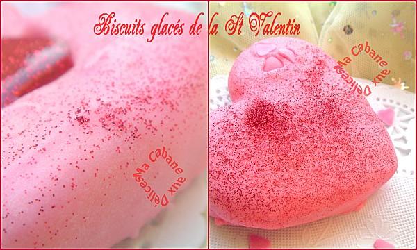 Biscuits glacés de la st valentin montage