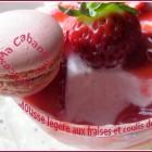 Mousse aux fraises sans oeufs