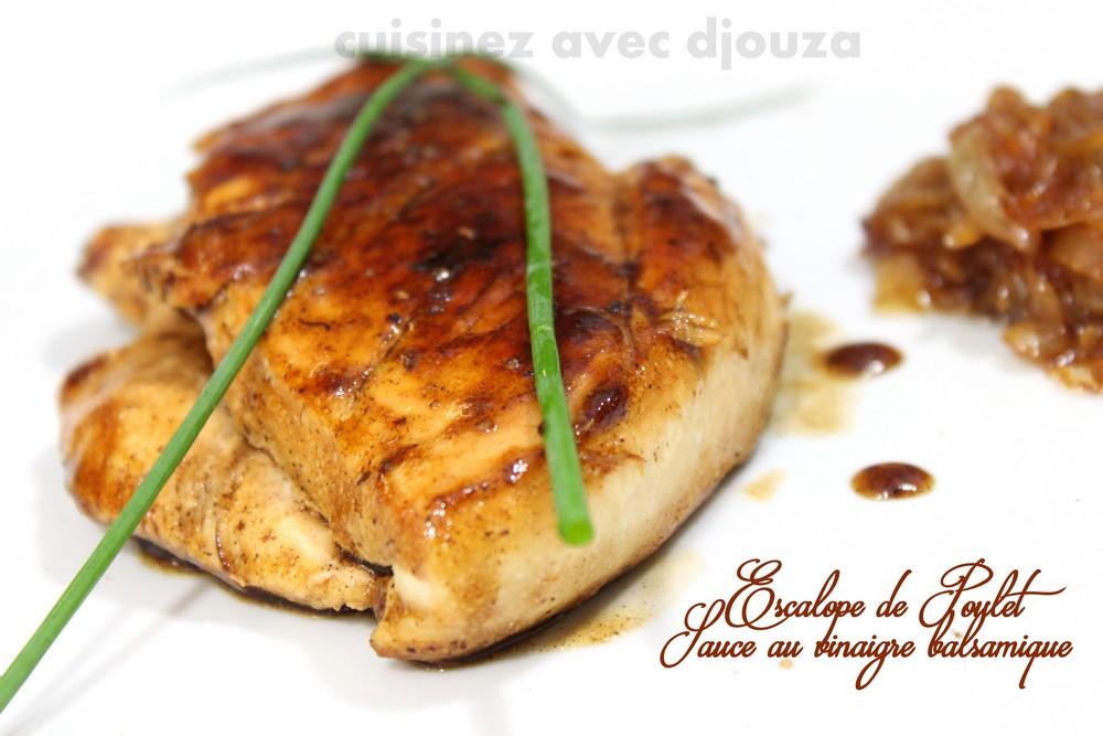 Escalope de poulet sauce au vinaigre