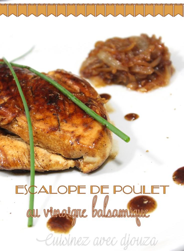 Escalope de poulet au balsamique