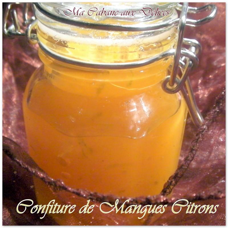 Confiture de mangues citrons