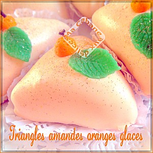 Triangles amandes oranges glacés photo 1
