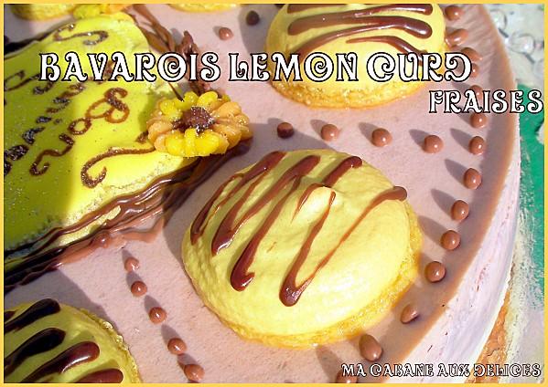Bavarois Lemon curd fraise photo 3