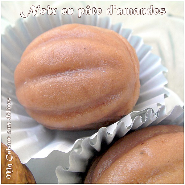 Noix en pâte d'amandes photo 1