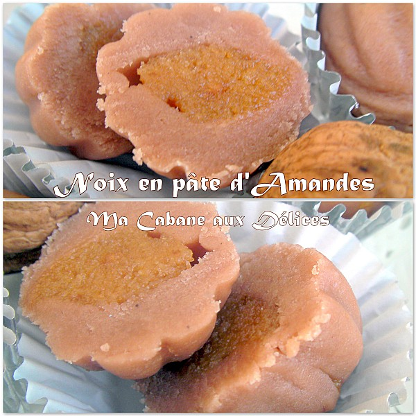 Noix en pâte d'amandes photo 2