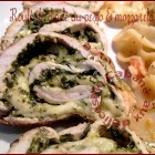 Escalope de dinde roulée au pesto et mozzarella