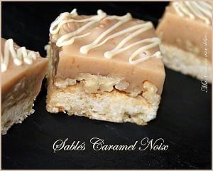 Sables fondants caramel noix