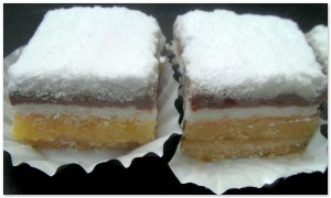 Gateau superpose glacage citron