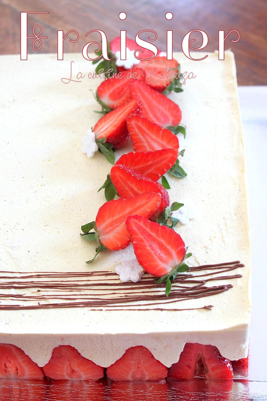 fraisier cr me mousseline facile recettes faciles recettes rapides de djouza. Black Bedroom Furniture Sets. Home Design Ideas