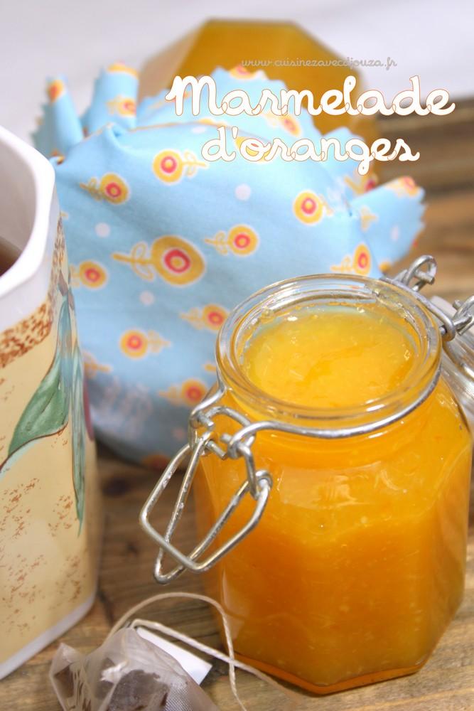 Marmelade d'oranges facile