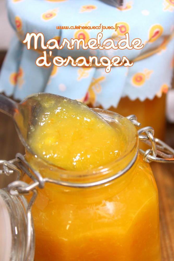 Marmelade ou confiture d'oranges