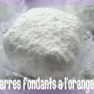 Carrés fondants à l'orange, gâteau algérien